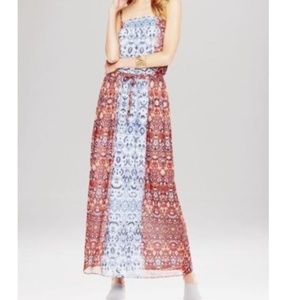 VINCE CAMUTO MOROCCAN TILE PAISLEY MAXI DRESS
